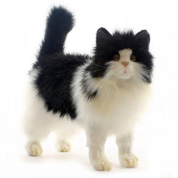 Theanimalplace Black White Cat 4221 Hansa Realistic Soft Toys