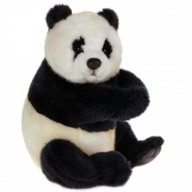 Baby Panda Bear Cub - Sitting #4184 - Hansa Realistic Soft Toys & Plush Stuffed Animals