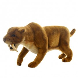 Saber Tooth Tiger #4885 - Hansa Realistic Soft Toys & Plush Stuffed Animals