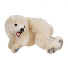 Baby Polar Bear Cub #5529 - Hansa Realistic Soft Toys & Plush Stuffed Animals